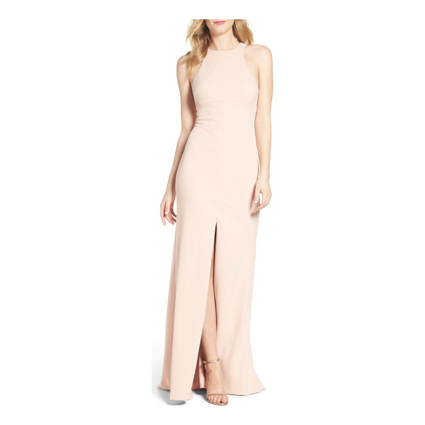 VERA WANG stretch woven mermaid gown - Precisely tailored to skim the figure, this graceful...