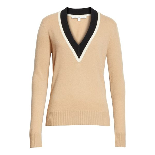 VERONICA BEARD barrett cashmere sweater - Veronica Beard's take on the classic varsity sweater...