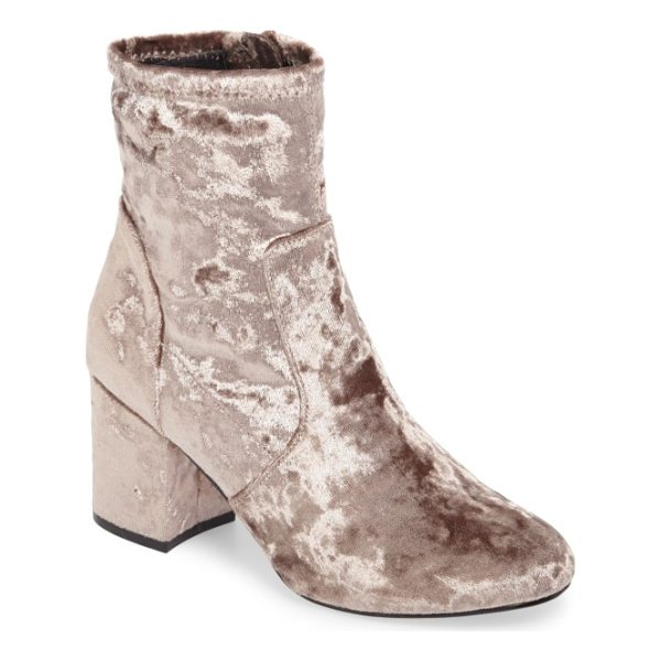 VERY VOLATILE eclipse velvet sock bootie - Crushed velvet and an of-the-moment sock fit define a...
