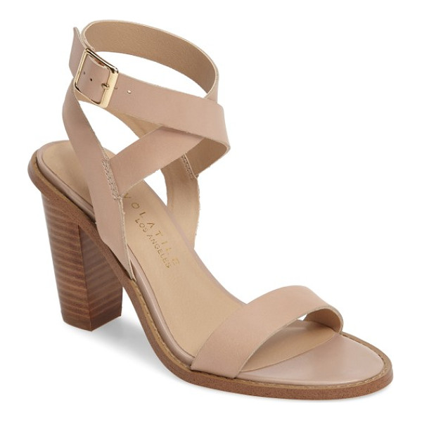 VERY VOLATILE poshy ankle wrap sandal - Wraparound ankle straps and a chunky stacked heel keep your
