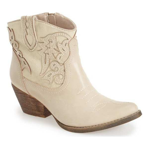 VERY VOLATILE prine short western boot - Release your inner cowgirl in a cute faux-leather bootie...
