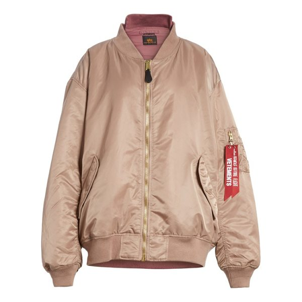 VETEMENTS x alpha industries reversible bomber jacket - Designed in collaboration with Alpha Industries, this luxe...