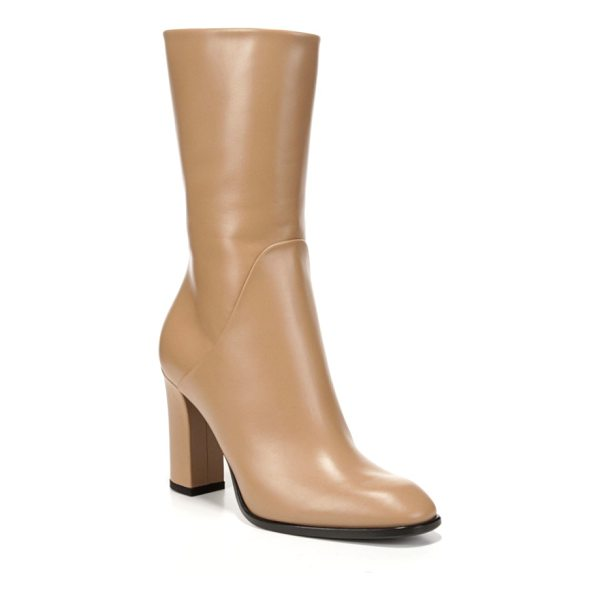VIA SPIGA adrinna mid calf boot - Smooth leather distinguishes a streamlined, Italian-crafted...