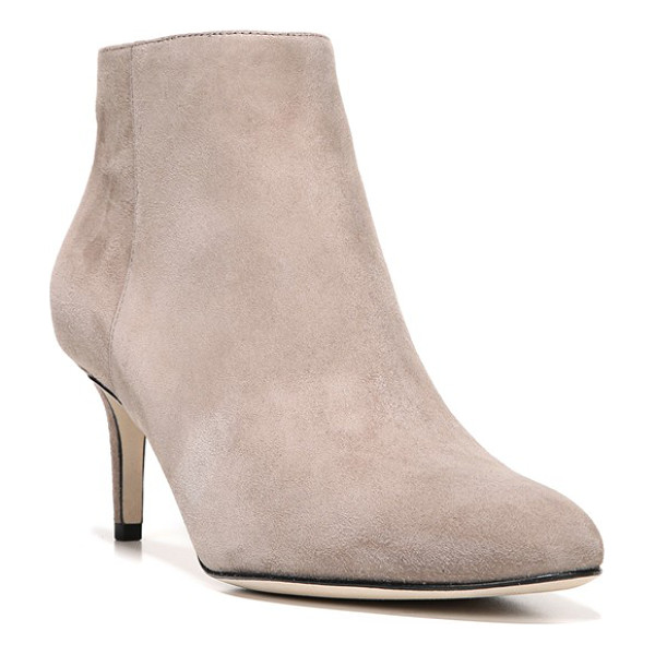 VIA SPIGA aurora bootie - A demure kitten heel and Italian leather or suede give this...