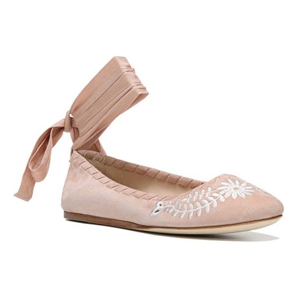VIA SPIGA baylie tie ballet flat - Wrap-around laces at the ankle and whipstitched trim update...