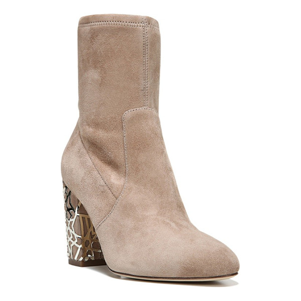 VIA SPIGA 'daisie' caged heel bootie - The quintessential bootie goes modern with a chunky heel...