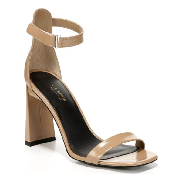 VIA SPIGA faxon ankle strap sandal - A tapered, architectural heel lifts a contemporary...