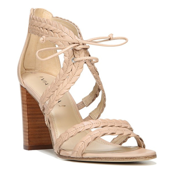 VIA SPIGA gardenia lace-up sandal - Braided leather straps enhance the summery appeal of a...