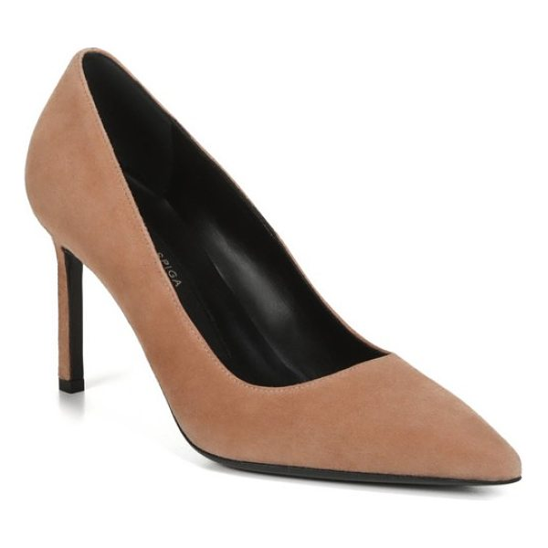 VIA SPIGA nikole pointy toe pump - The classically elegant lines of a pointy-toe pump perched...