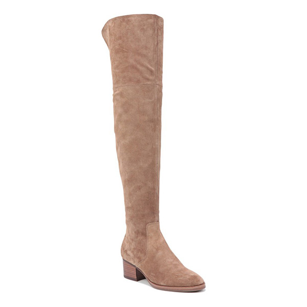 VIA SPIGA 'ophira' over the knee boot - A gorgeous boot styled with a stable block heel features a...