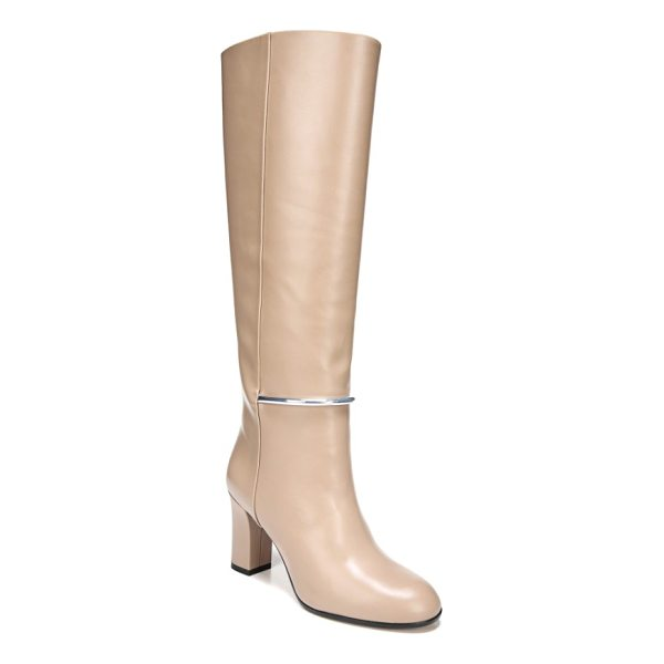 VIA SPIGA shaw knee high boot - A gleaming bit arcs across the front of a knee-high boot...