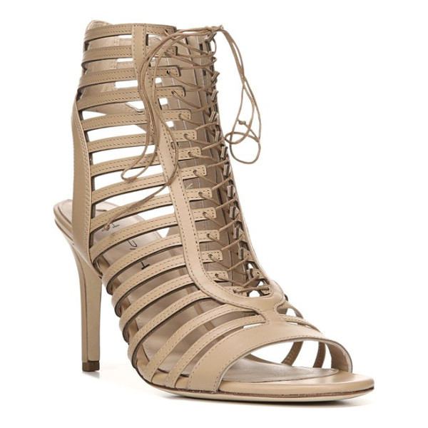 VIA SPIGA valena lace-up cage sandal - Ghillie-style lacing ladders up the front of a...