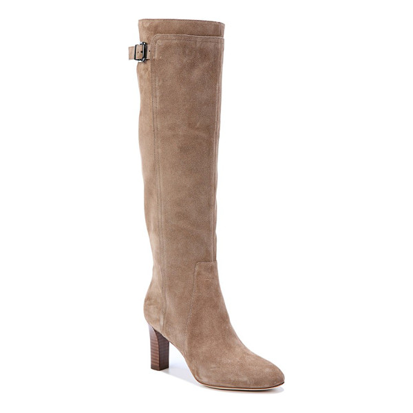 VIA SPIGA 'parca' knee high boot - A substantial heel and vertical seaming reinforce this...