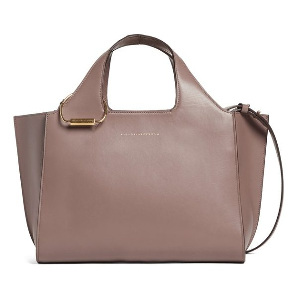 VICTORIA BECKHAM small newspaper leather tote - This stylish structured tote crafted from smooth calfskin...