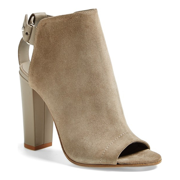 VINCE addison boot - Italian suede and leather in neutral hues create a tonal...