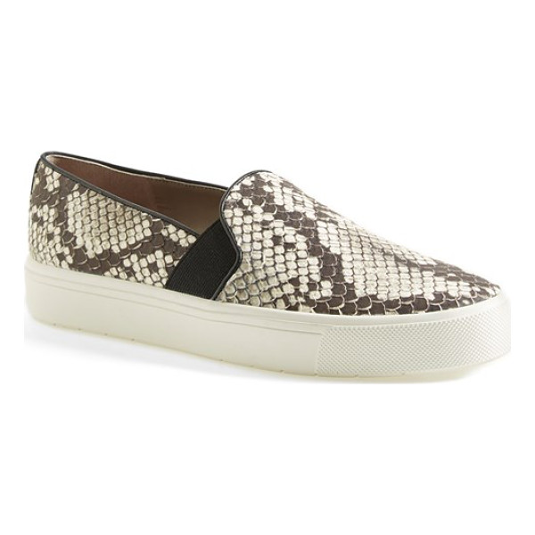 VINCE berlin slip-on python embossed leather sneaker - Liven up your everyday style in a slip-on sneaker with an...