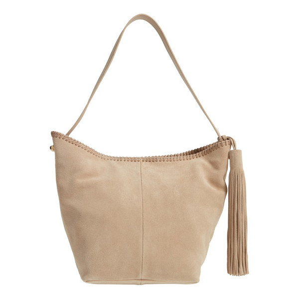VINCE CAMUTO aiko hobo bag - Tonal whipstitching and a swishy tassel detail a roomy...