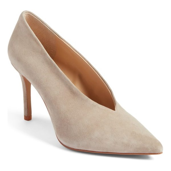 VINCE CAMUTO ankia suede pump - A V-shaped topline accentuates the streamlined silhouette...