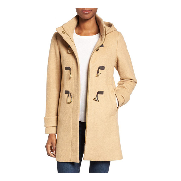 VINCE CAMUTO boiled wool blend duffle coat - A trio of rustic toggles adds a town-and-country touch to a...