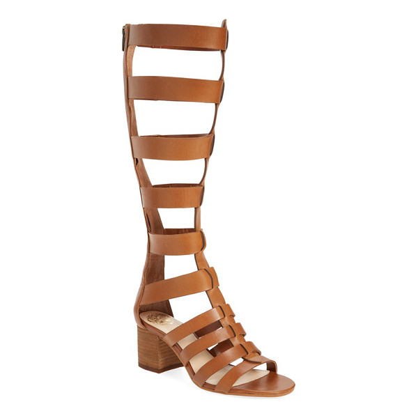 VINCE CAMUTO brenton sandal - Wide leather straps heighten the vintage drama of a...