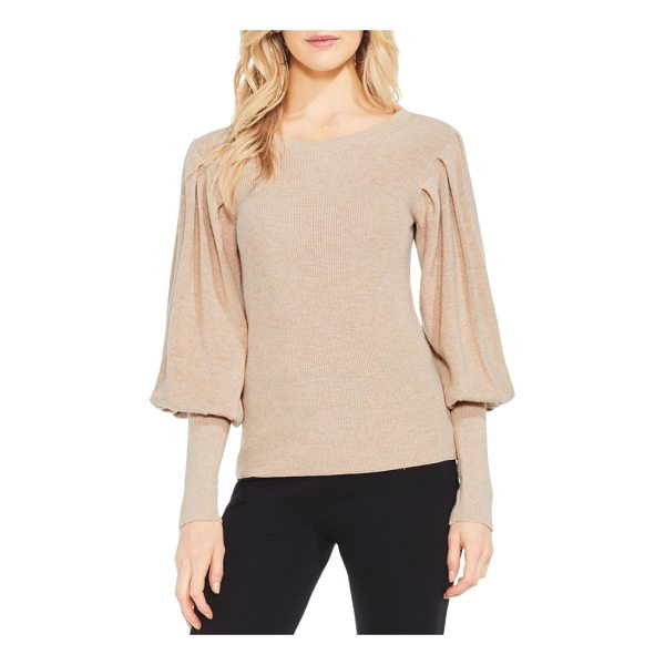 VINCE CAMUTO bubble sleeve sweater - Poufed to the elbow, juliet sleeves bring an all-at-once...