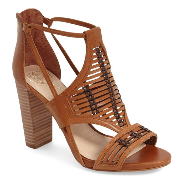 VINCE CAMUTO ceara sandal - A woven leather upper adds a Western touch to a chic cutout...