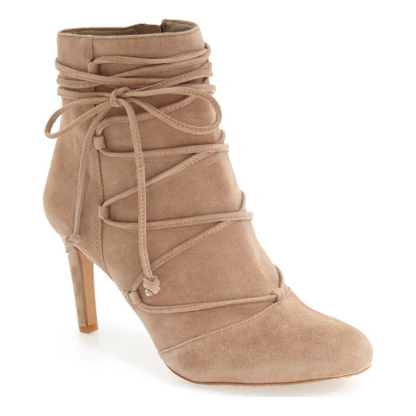 VINCE CAMUTO 'chenai' wraparound lace bootie - Decorative ghillie-style lacing crisscrosses up the front...