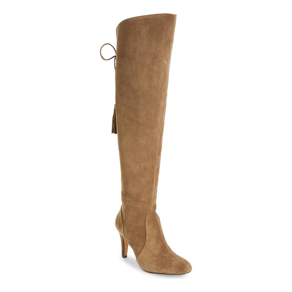 VINCE CAMUTO cherline over the knee boot - A sloped topline and a lace-up split shaft detail this...