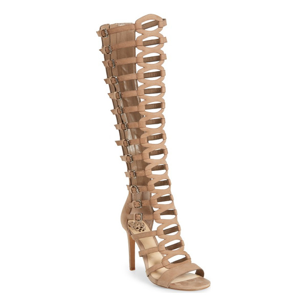 VINCE CAMUTO chesta tall gladiator sandal - Slim, laddered straps climb the knee-high shaft of a...