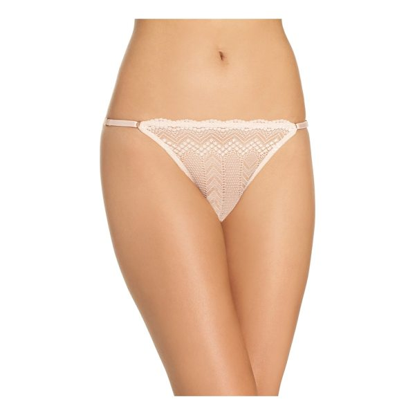 VINCE CAMUTO colette string bikini - Sheer, chevron-patterned lace puts a modern twist on a...