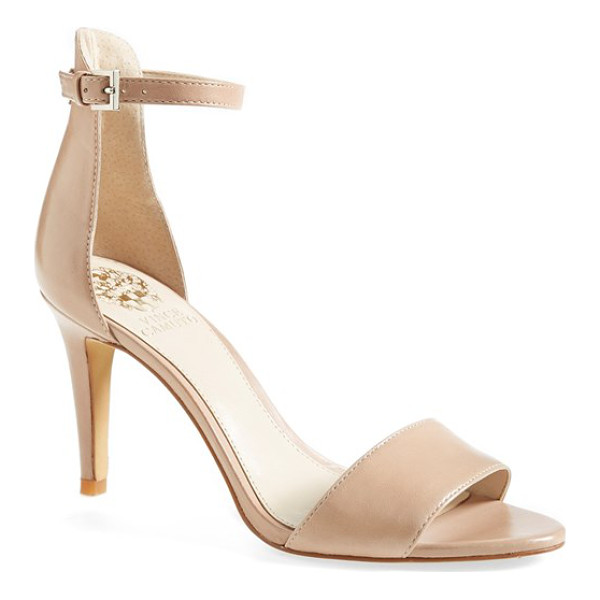 VINCE CAMUTO court ankle strap sandal - A slim ankle strap lends a dash of on-trend elegance to a...