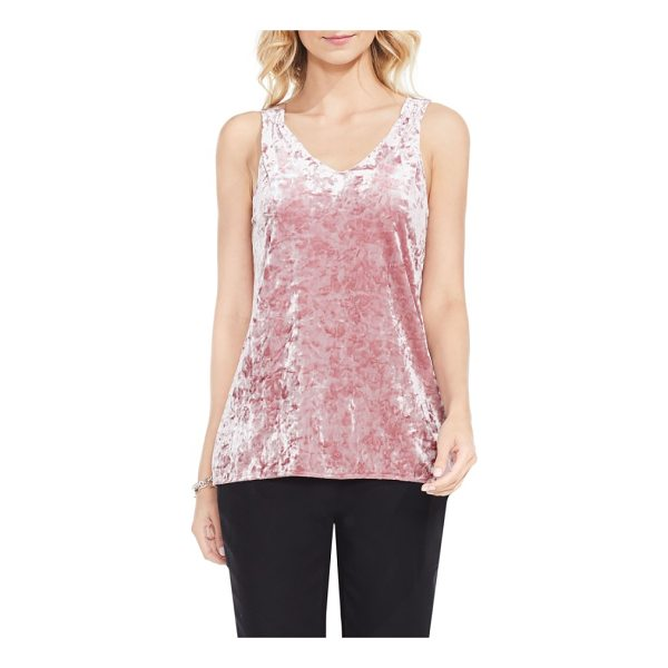 VINCE CAMUTO crushed velvet knit tank - This supple, comfortable layer of shimmering crushed velvet...