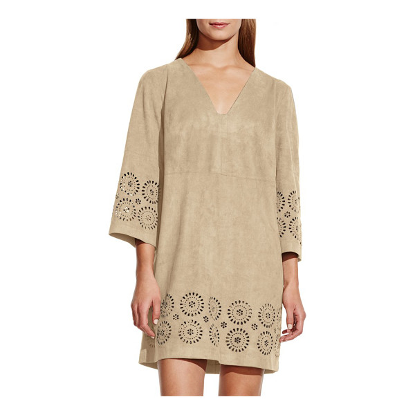 VINCE CAMUTO cutout faux suede shift dress - Slip into a festival state of mind with this short shift...