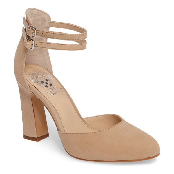 VINCE CAMUTO dorinda pump - Slim ankle straps and an architectural heel distinguish a...