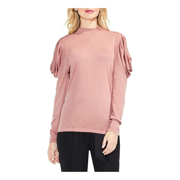 VINCE CAMUTO drape shoulder sweater - An elegantly draped detail at the shoulders transforms this...
