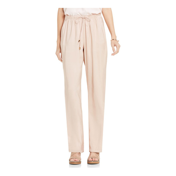 VINCE CAMUTO drawstring wide leg pants - In a soft and stretchy fabric, these easy-fitting lounge...