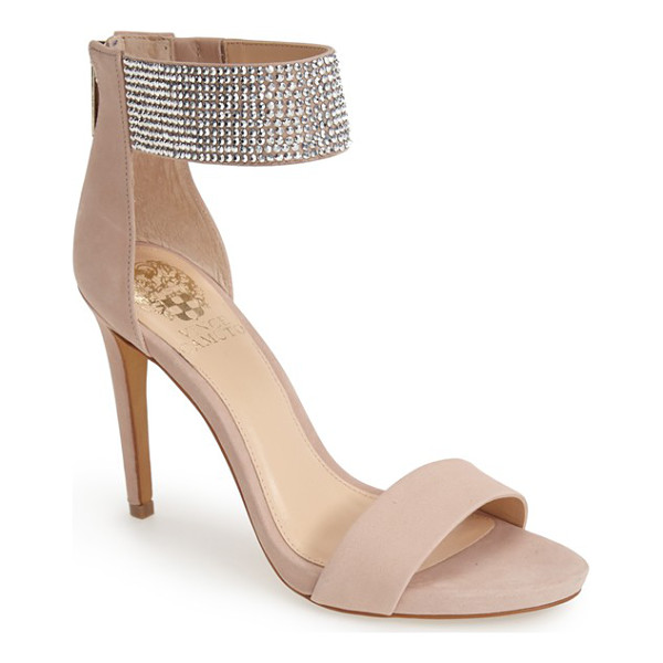 VINCE CAMUTO fyell ankle cuff sandal - Crystal embellishments sparkle on the sleek ankle cuff of a...