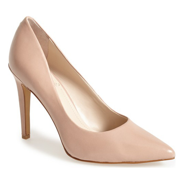 VINCE CAMUTO kain pump - A timeless pump updated with a pointed toe is set atop a...