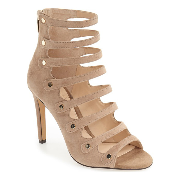 VINCE CAMUTO 'kanastas' strappy pump - Gleaming metal buttons secure the slender laddered straps...