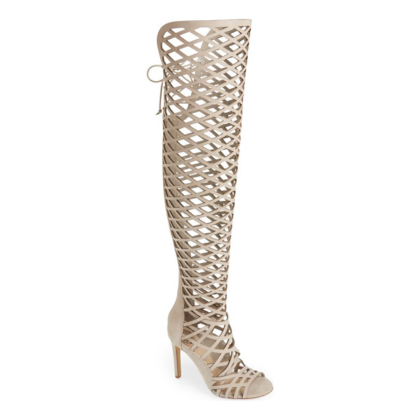 VINCE CAMUTO 'keliana' over the knee boot - Airy geometric cutouts create a stunning fishnet effect on...