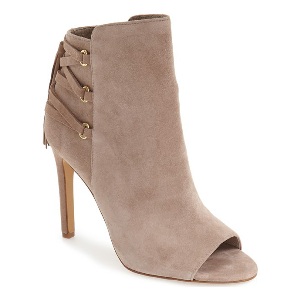 VINCE CAMUTO 'kimina' lace detail bootie - Corset-inspired lacing in back paired with a svelte...