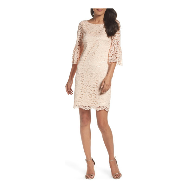 VINCE CAMUTO laguna dress - Soft, romantic lace gets architectural in the crisscrossed...