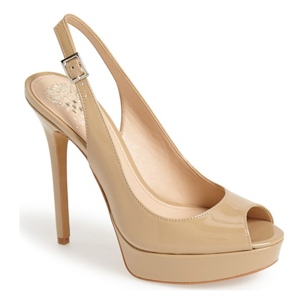 VINCE CAMUTO levina platform pump - An alluring platform pump is styled with a classic...