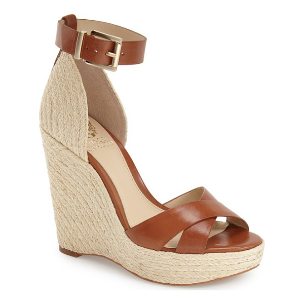 VINCE CAMUTO maurita sandal - A woven espadrille wedge completes the beachy look of a...