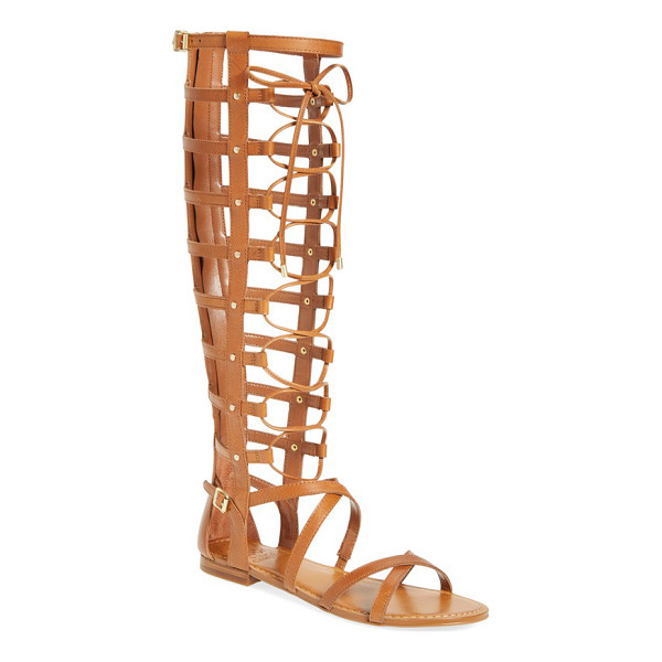 VINCE CAMUTO mesta tall gladiator sandal - Goldtone studs and buckles highlight the slender straps of...