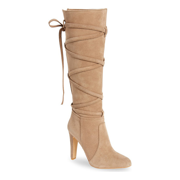 VINCE CAMUTO millay knee high boot - Wraparound straps add stunning visual intrigue and vintage...