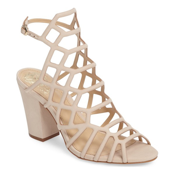 VINCE CAMUTO naveen cage sandal - Geometric strap placement and a high-set slingback strap...