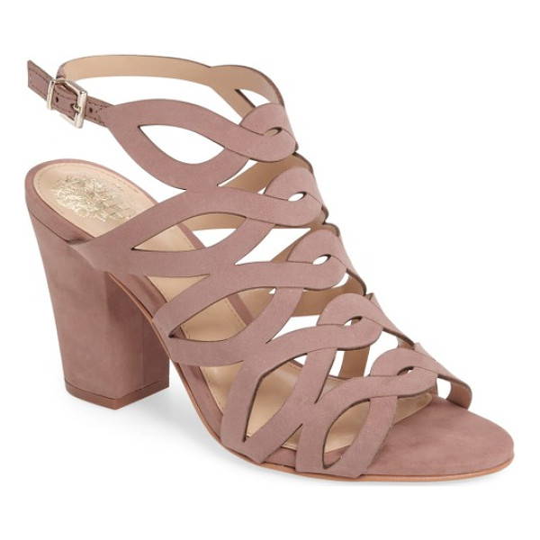 VINCE CAMUTO norla block heel sandal - A tapered block heel provides right-on-trend lift to a...