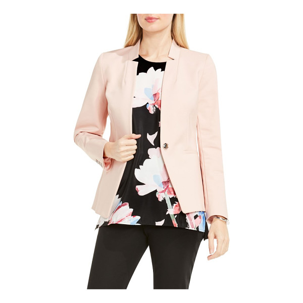 VINCE CAMUTO one-button notch collar blazer - Airy, flower-inspired color and a notched V-neckline...