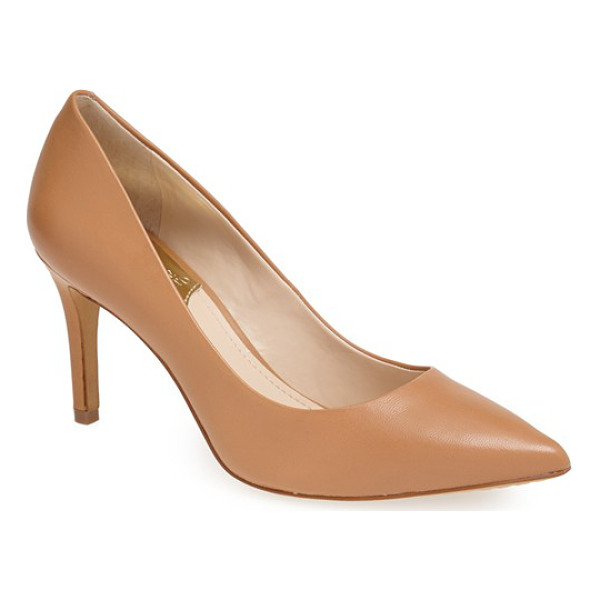VINCE CAMUTO ressamae leather pump - Graceful curves culminate in a pointed toe on a versatile,...